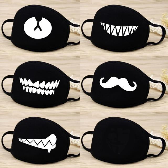 1 Pcs 12 Style Cotton Masks Keep Warm Cartoon Lovely Face Mouth Mask Camouflage Mouth Muffle Respirator Unisex 2