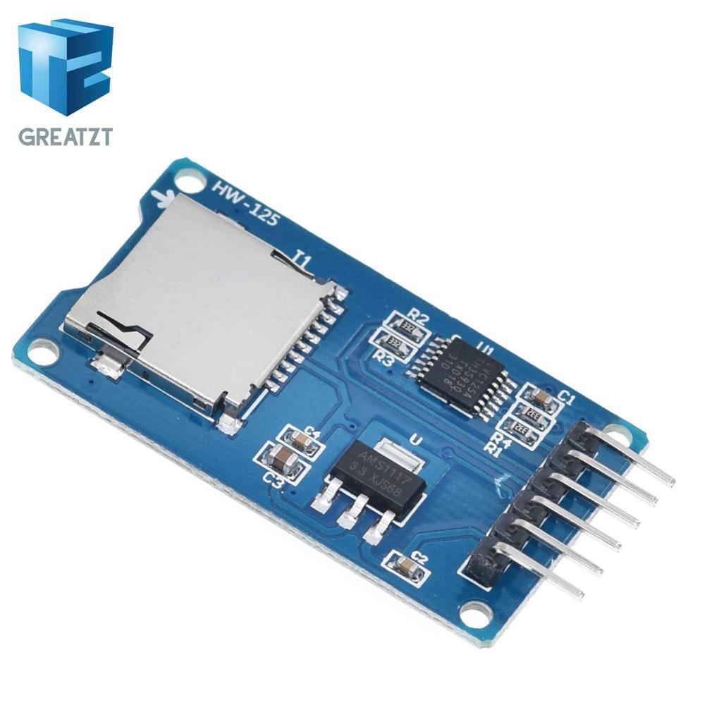 Arduino // PIC // Raspberry Pi New Micro SD Card Module SPI for Arduino