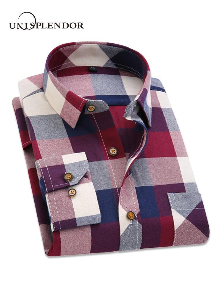 2018 frühling Herbst Flanell Männer Kariertes Hemd Langarm männer Warme Casual Shirts Britischen Baumwolle Mens Überprüfen Shirt 14 design YN790