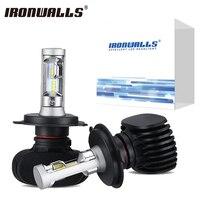2x H4 H13 H11 H7 9006 9005 Car LED Headlight Bulbs 8000lm 50W 6500K CSP Cree