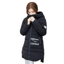 Lastest Winter Women Jackets Coats Fashion Hooded Padded Coat Winter Thicken Down Cotton Jacket Slim Long Outerwear Parka A2010