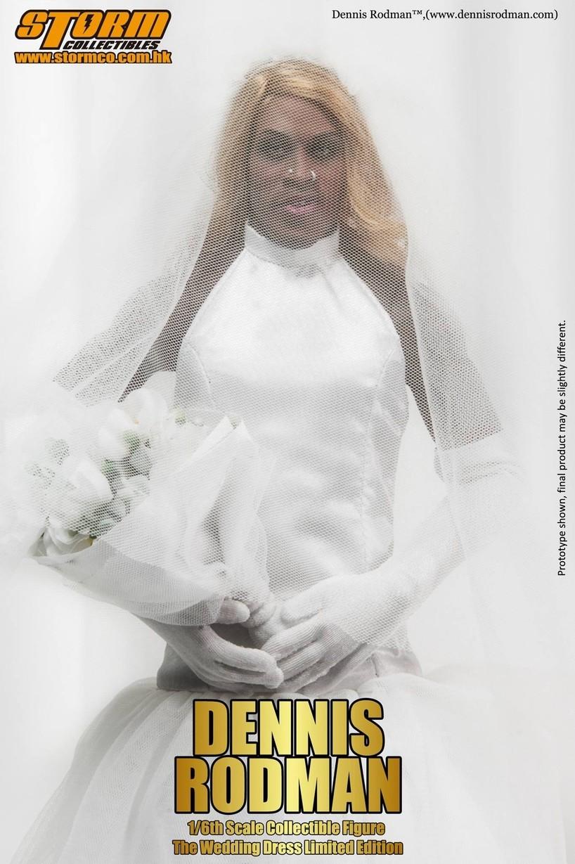 Storm Toys 1 6 Dennis Rodman wedding dress limited version ( 500pcs ... ea27e90aafdf