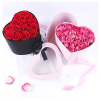 Hreat shape Valentine's day gift box PVC transparent cover florist packing flower box, wedding party decoration Not have flower