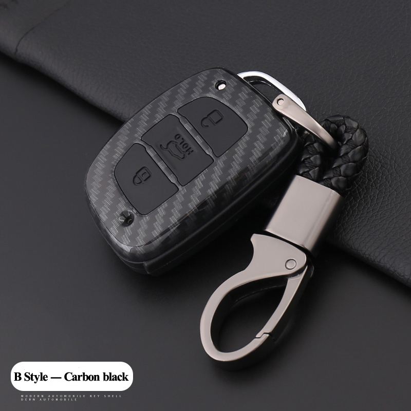 jingyuqin 3Buttons Carbon Car Key Cover Case For Hyundai Creta I10 I20 Tucson Elantra Santa Fe i30 IX35 Elantra Verna Tucson hyundai elantra соната ix35 k5 k3 чи работает cd хвост aux usb кабели