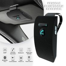 цена на Bluetooth Handsfree Car Kit 4.2 Sun Visor clip Wireless Audio Receiver Speakerphone Loud Speaker Music Player Dual Microphone