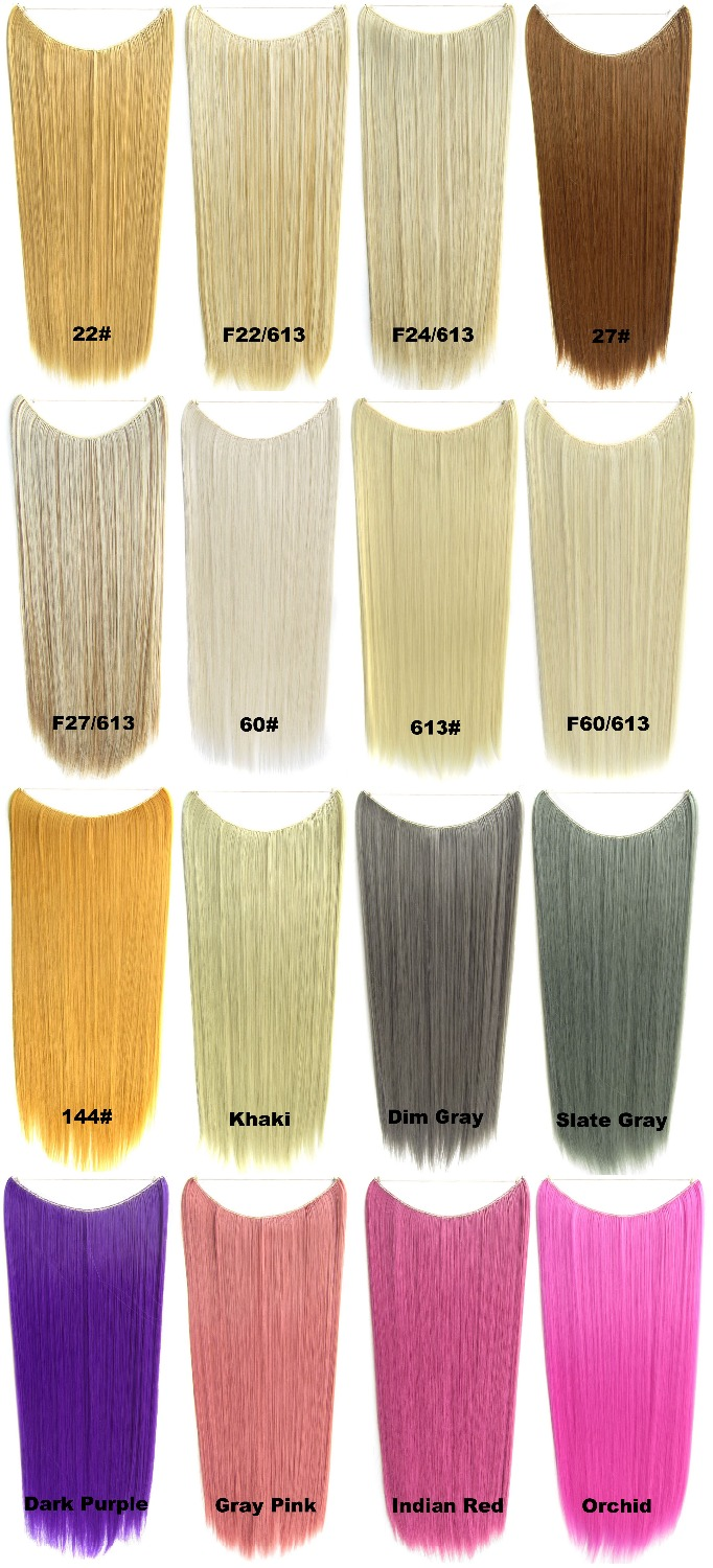 Flip In Long Straight Secret Miracle Hair Wire Synthetic Heat