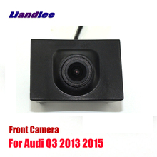 Liandlee AUTO CAM For Audi Q3 2013 2015 Front View Camera Logo Embedded ( Not Reverse Rear Parking )