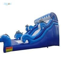 Дельфин надувной морской волны водная горка для детей, играющих