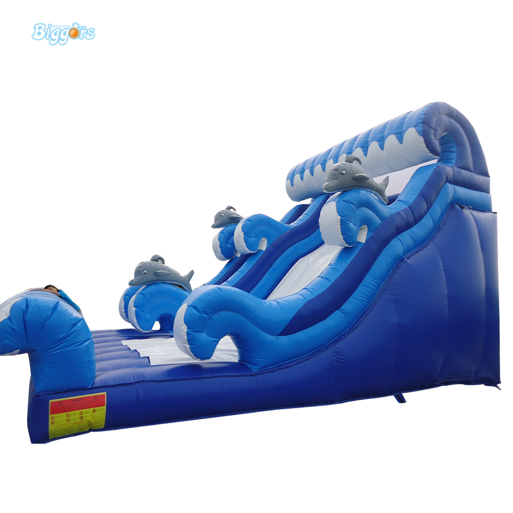 Dolphin Inflatable Ocean Wave Water Slide for Kids Playing 2017 new hot sale inflatable water slide for children business rental and water park