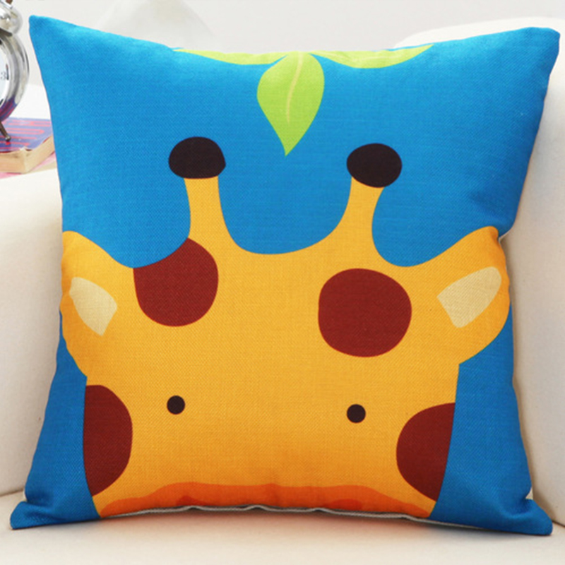 Cute Cartoon Animal Cushion Cover Sofa Linen Pillow Case Children Bedroom Gift Home decoration ...