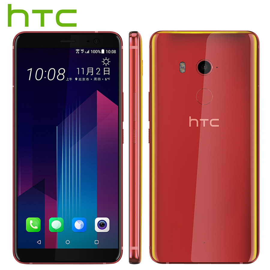 Original novo HTC U11 Plus Mobile Phone 6 GB 128 GB Snapdragon 835 Núcleo octa 6.0 polegada Android 8.0 IP68 telefone À Prova de Poeira à prova d' água