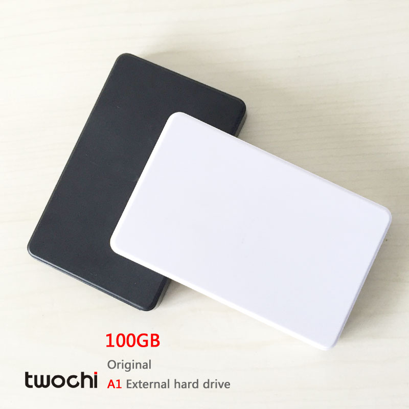 Free shipping New Styles TWOCHI A1 Original 2 5 External Hard Drive 100GB Portable HDD Storage