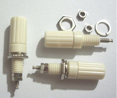 40 PCS white Binding Post FOR Speaker 4mm Banana Plug Test probe Conversion connector