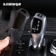 цена на Real Carbon Fiber Gear shift knob stickers For F10 F30 F15 F16 F25 F26 BMW F20 F31 F34 X5 X6 X3 X4  gear shift Head Panel Cover