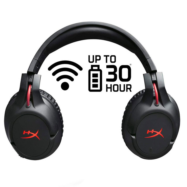 hyperx new arrival 2018 wireless earphones cloud flight headset 30hour battery life for pc gaming cs - how to get fortnite audio through headset pc