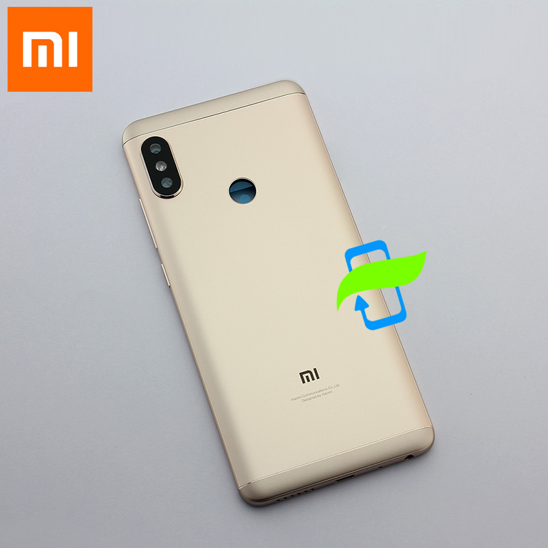 Image 5 - Original Battery Back Cover For Xiaomi Redmi Note5 Back Housing Rear Door Case Redmi Note 5 pro Power Volume Buttons+Camera Lens-in Fitted Cases from Cellphones & Telecommunications