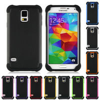 S5 Case Armor Hybrid Kickstand Shockproof Soft Handfeel Back Cases For Samsung Galaxy S 5 V