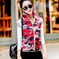brand new autumn cotton vest female Korean Slim large size fashion candy colored cotton padded jacket women waistcoat