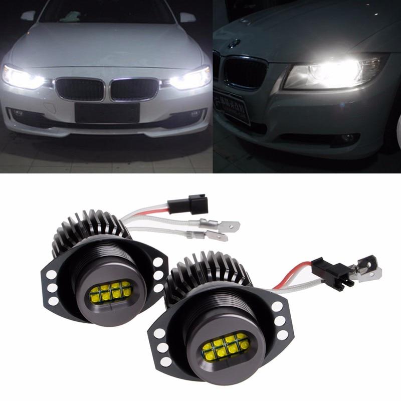 2xH8 Angel Eyes Halo Ring LED Licht Voor BMW E90 \\ E91 10 30 V Led ...