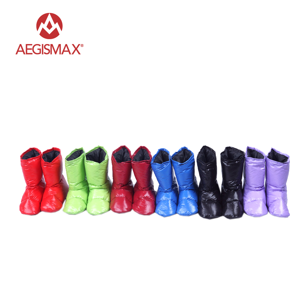 AEGISMAX Duck Down Boots Soft Sock Slipper Men Women Indoor Keep Warm Long Journey Fly Trip Lightweight Outdoor Camping Boots
