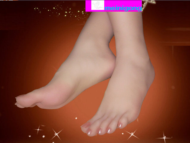 The simulation model of female foot foot mold rubber foot live models