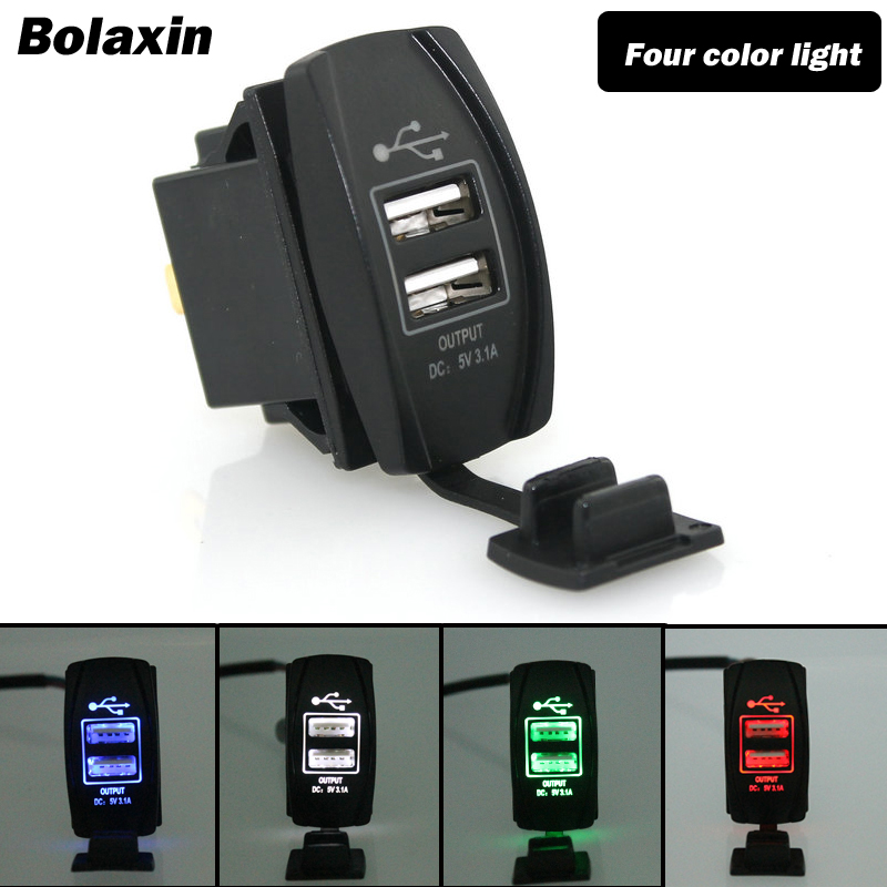 Port Charger Adapter With Digital Display: Bolaxin Interior Car Charger Digital Display Dual USB Port