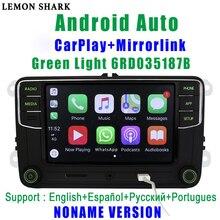 RCD330G carplay RCD330プラス緑色光mib車ラジオ6RD 035 187B noname androidの自動vwシュコダオクタファビアすばらしいイエティ