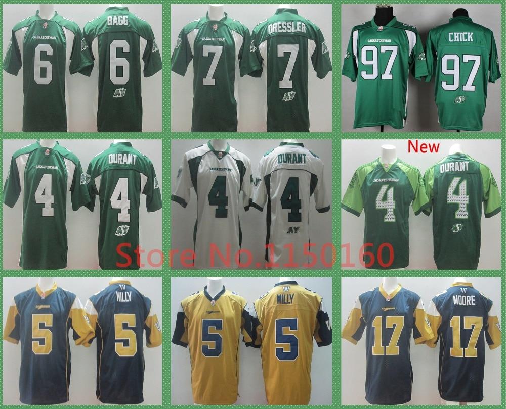 ... 4 Darian Durant Jersey Saskatchewan Roughriders Rob Bagg CFL Weston  Dressler Chick Jersey Drew Willy Football ... e38e3d908