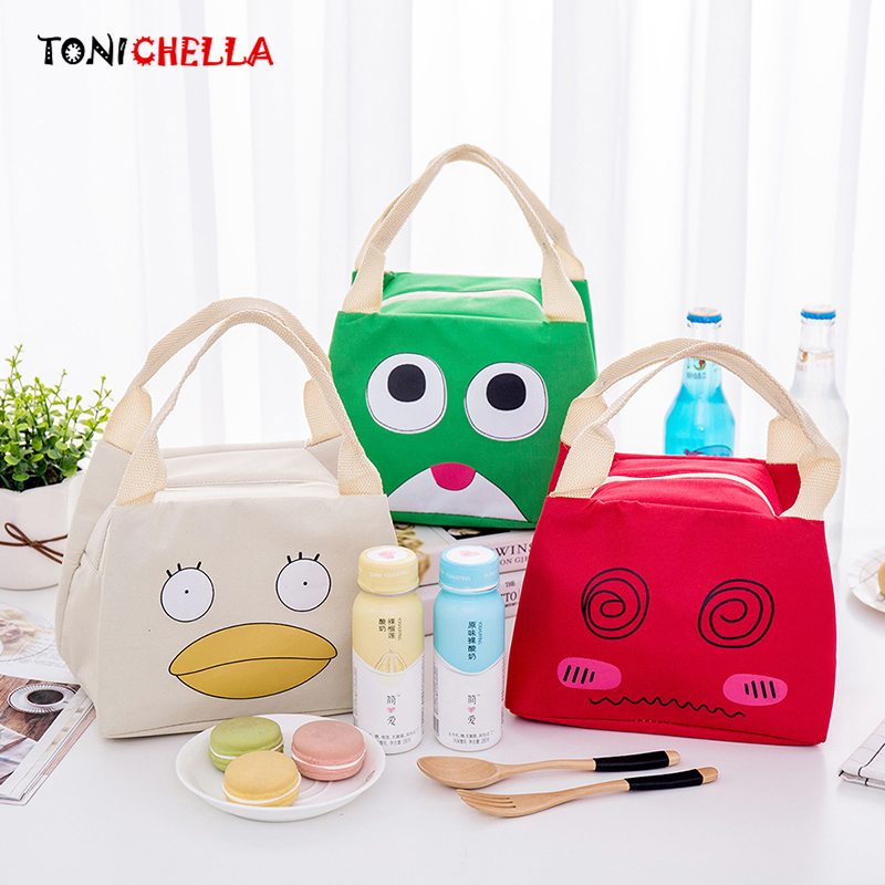 Cartoon Expression Thermal Insulation Baby Bags Portable Waterproof Milk Bottle Food Storage Keep Warm Outdoor Handbags CL5286