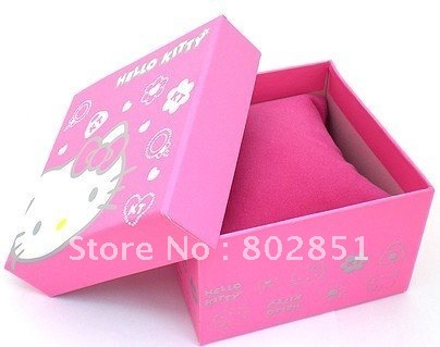 LOTS 3 PCS good quality cute Hello Kitty gift box for watches necklace