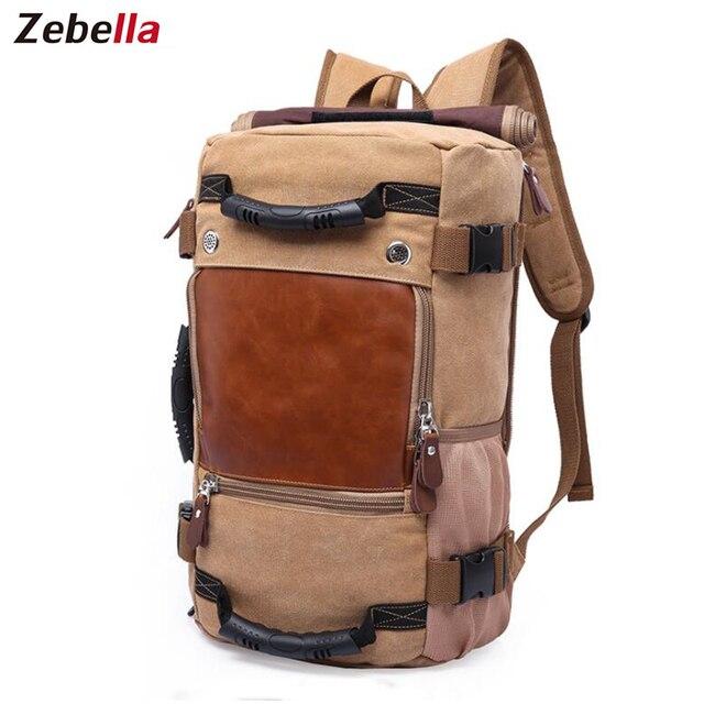 466d18f7007a Zebella Brand Stylish Travel Large Capacity Backpack Male Luggage Shoulder Bag  Computer Backpacking Men Functional Versatile