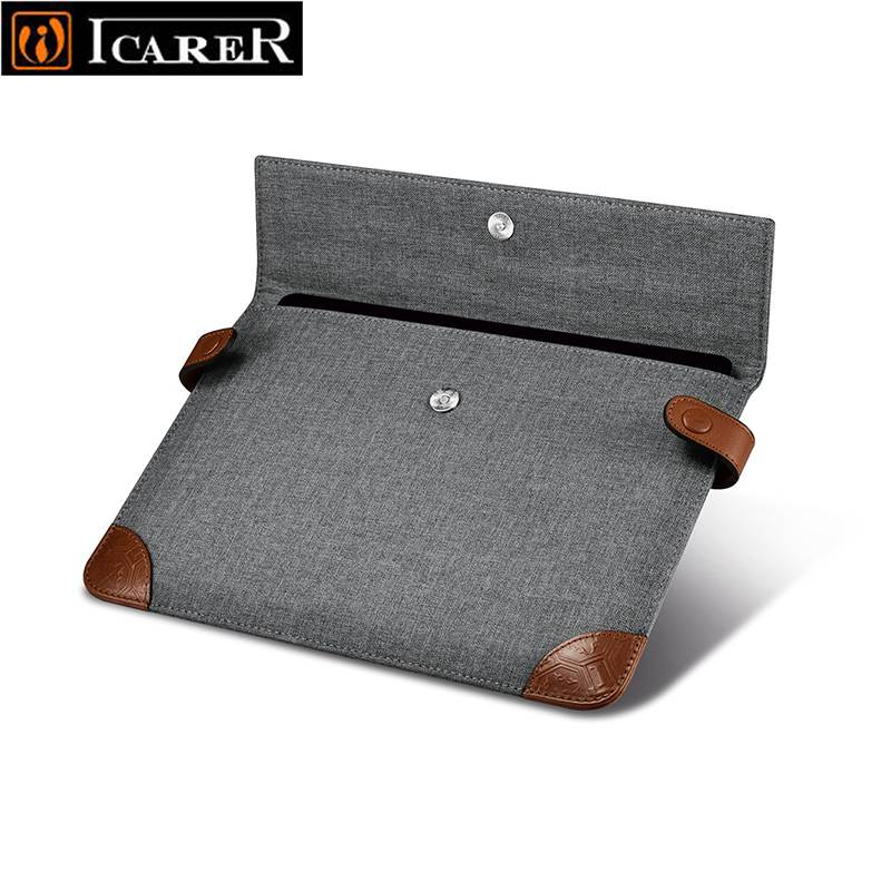 iCarer Brand New For iPad Pro 9.7 inch Case Sleeve, Grey Protective Carrying Bag Pouch for iPad Pro 9.7 inch Case Cover Fundas 12 9 inch pu leather wallet case cover sleeve bag pouch protective shell skin for new apple ipad pro 12 9 2017 tablet pc fundas