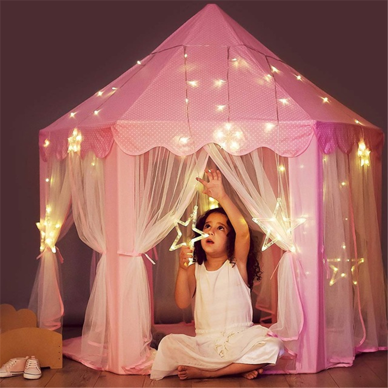 Princess Play Tent Portable Boys Girls Castle Tents