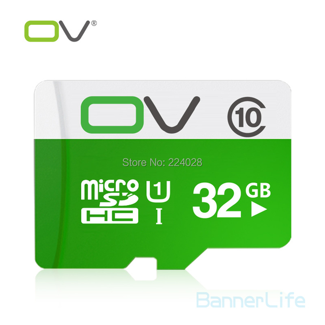 10PCS/LOT OV Memory Micro SD Card 32GB Class 10 UHS-1 TF Carte Microsd Flash Card SDCard for Mobile Phone Smartphone Tablet MP3