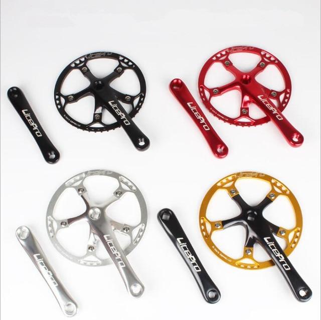 Litepro Bicycle Crankset Integrated Single Crankset Crank 45T 47T 53T 56T 58T BCD 130mm For Folding Bike Bicycle Parts