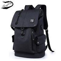 Fengdong Brand Men Backpack Leisure Male School Bag High School Student Fashion Backpack For Men