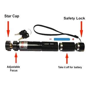 Image 5 - Puntero láser de alta potencia 532nm 303 verde lápiz puntero láser Ajuste de Encendido ajustable con batería recargable 18650