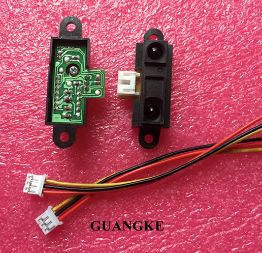10pcs lot GP2Y0A21YK0F 100 NEW 2Y0A21 10 80cm Infrared distance sensor INCLUDING WIRES FREE SHIPPING
