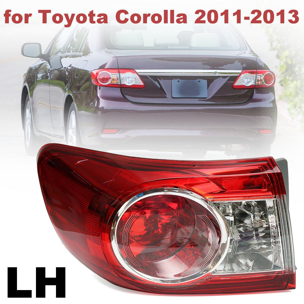 #TO2804111 #81560-02580 PMMA Replacement Red Driver Rear Left Side Tail Light Brake Lamp for Toyota Corolla 2011 2012 2013 free shipping 2pc hexagon pattern abstract geometric body rear tail side graphic vinyl for toyota hilux vigo 2011 decals