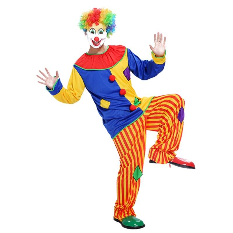 Бесплатная доставка Хэллоуин цирковой клоун патч преувеличением партия магическое шоу реквизит карнавальный костюм взрослых клоун патч