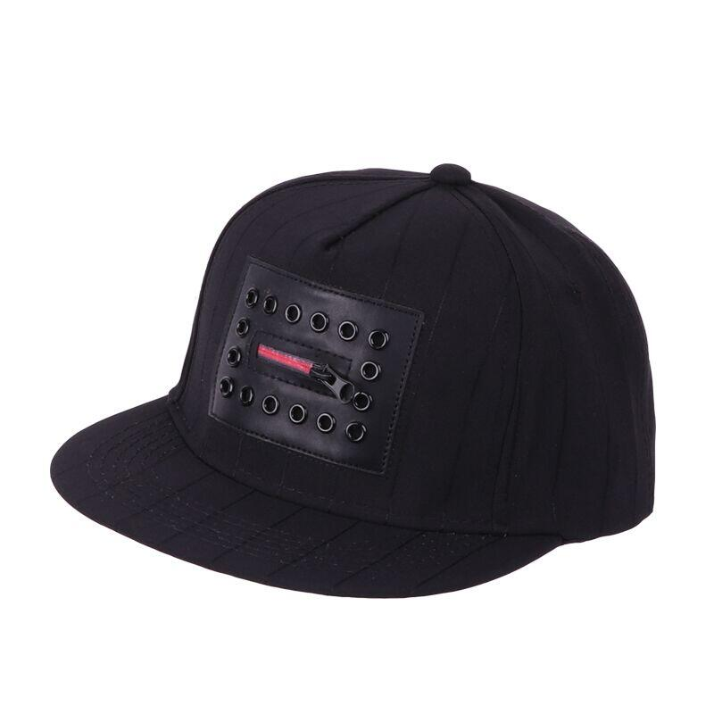 Fashion Men`s Hip Hop Baseball Caps Metal women Punk Gothic Street Style Flat Hats For Hipster Swag Snapbacks For Male