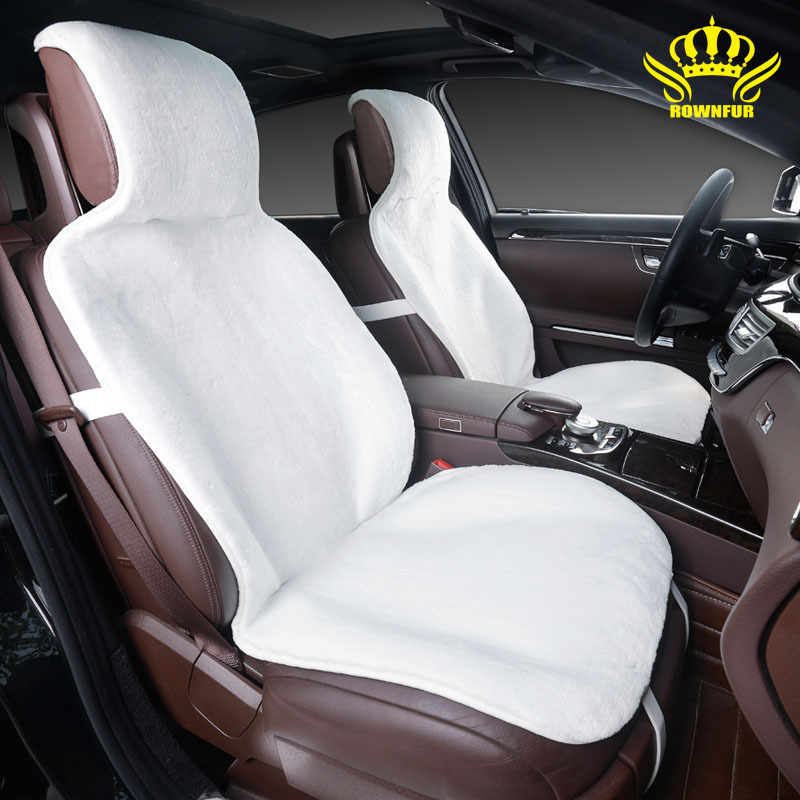 car seat covers set  White faux fur cute covers for car  interior accessories cushion styling winter new plush car pad seat i025
