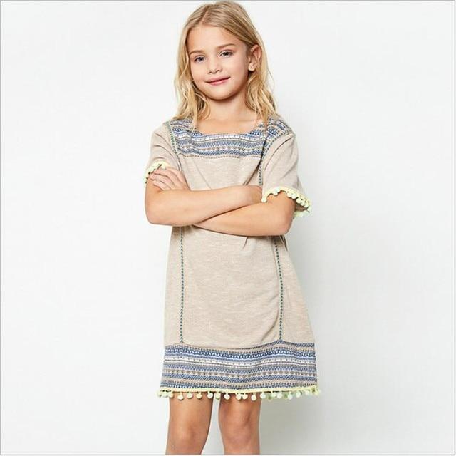 Summer cotton dresses for juniors