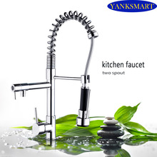 Великобритании Новый Дизайн вытащить кран Chrome Серебряный Поворотный Кухня раковина смеситель Кухня кран тщеславия воды краны