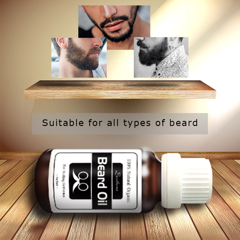 Lanthome Original Beard growth oil mustache grow stimulator 100% natural accelerate beard growth oil facial hair moisturizing 1