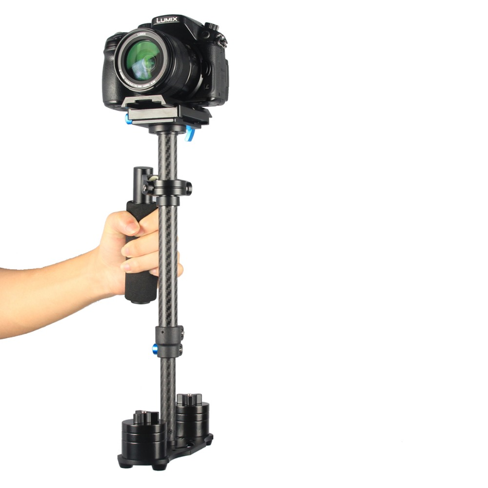 YELANGU Pro Compact Carbon Fiber Camera Stabilizer Adjustable 28-40cm Video Steadycam for Camcorder Camera Video DV DSLR SLR