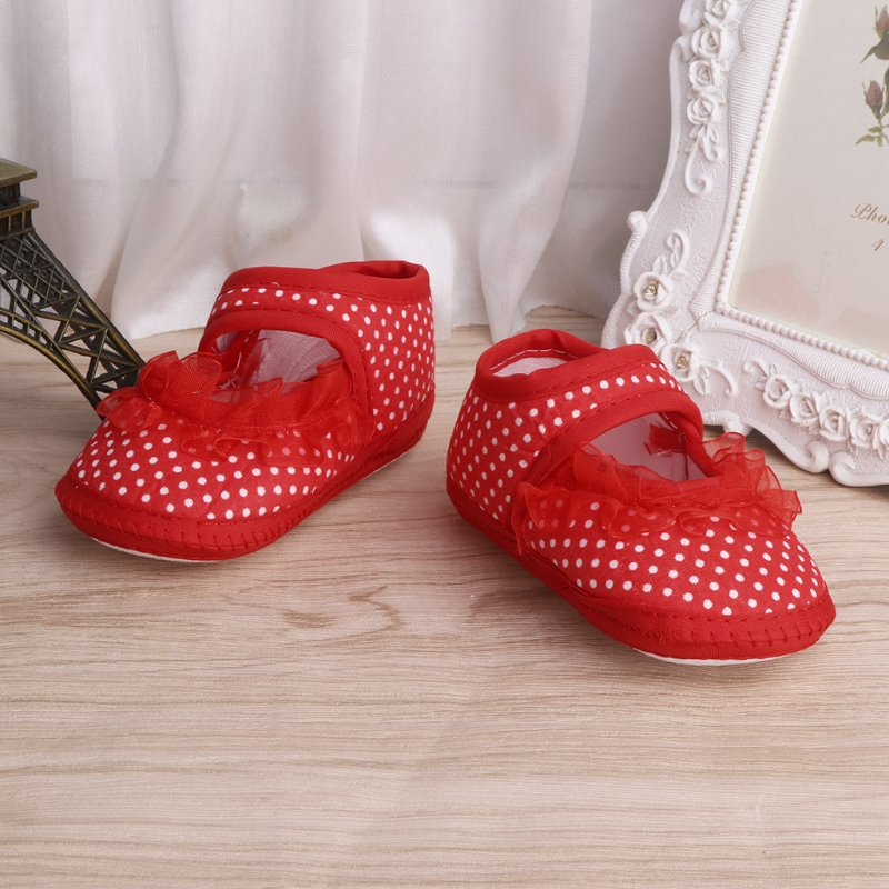 Spring Baby Girl Lace Toddler Shoes Baby Girls Toddler Bow Flower Anti-slip Soft Sole Crib Spot Shoes Infants Summer First Walke
