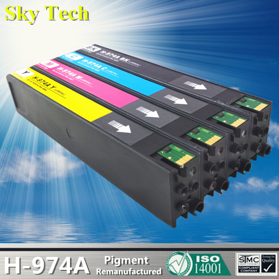 KCMY Pigment Ink Cartridge For HP974A , 974A For HP PageWide 352dw 377dw 452dw 477dw 552dw 577dw P55250dw P57750dw etc printer ink cartridge for hp 932 933 refill ink cartridge and pigment ink for hp 932xl 933xl 7110 7610 6600 printers