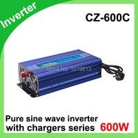 600 Вт 12 В/220 В портативный автомобильный инвертор зарядное устройство конвертер для Авто DC 12 до AC 220 модифицированный синус волна