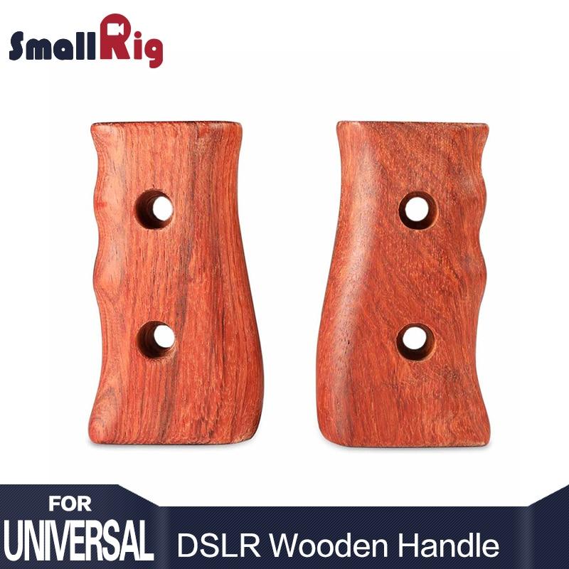 SmallRig Camera Wooden Handle for SmallRig DSLR Camera Cage 1630 / 1584 / 1750  (Left+Right 1751) smallrig camera cage for blackmagic pocket cinema camera bmpcc 1665